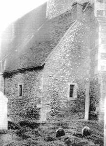 """The chamber of an anchoress (called an """"anchorhold"""") at a small church in Hislip, England. Source."""